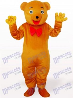 Oso amarillo pardusco Disfraz de mascota animal