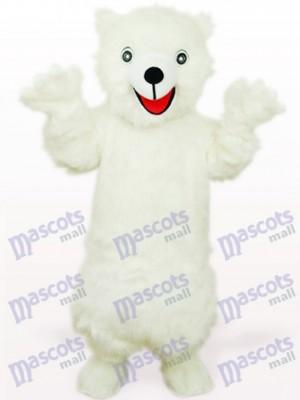 Oso Polar Blanco Feliz Disfraz de mascota Animal