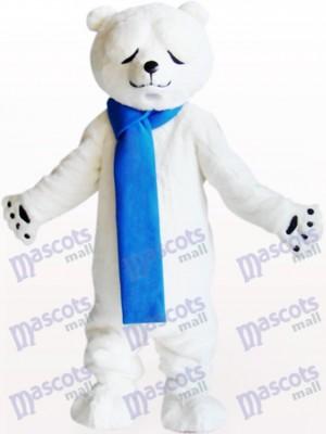Oso polar con ojos entrecerrados Disfraz de mascota animal