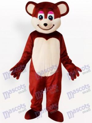 Sonriente oso pardo rojo Disfraz de mascota Animal