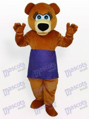 Oso con ropa morada Disfraz de mascota Animal