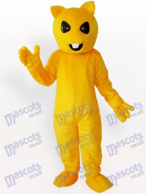 Oso amarillo adulto morada Disfraz de mascota Animal