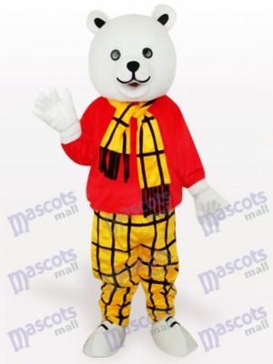 Oso en camisa roja Animal Disfraz de mascota