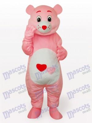 Oso Rosa Corazón Rojo Animal Disfraz de mascota