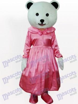 Oso general con vestido rosa Disfraz de mascota