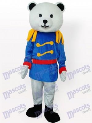 Oso general en abrigo azul Disfraz de mascota
