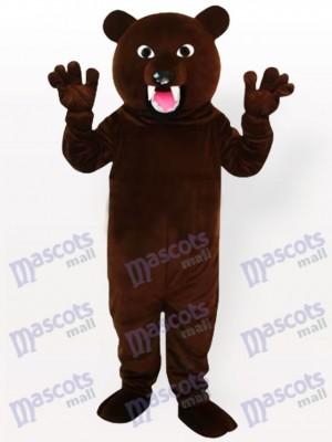 Oso pardo oscuro Disfraz de mascota