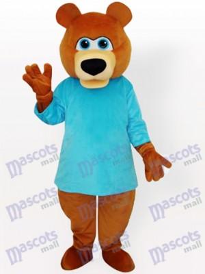 Oso en camiseta azul Disfraz de mascota