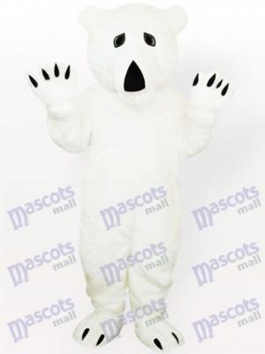 Oso Polar Ojos Negros Disfraz de mascota