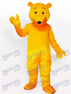 Oso amarillo de dibujos animados Disfraz de mascota animal