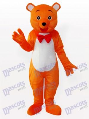 El hey Oso naranja Disfraz de mascota animal