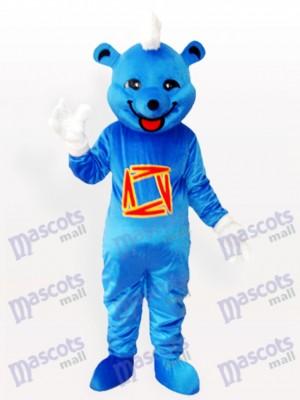 Oso azul gracioso Disfraz de mascota animal