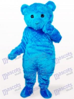 Oso de pelo largo azul Disfraz de mascota animal