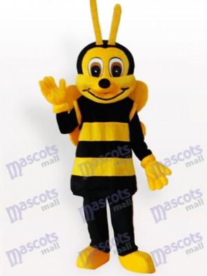 Abeja negra amarilla sonriente Insecto Disfraz de mascota
