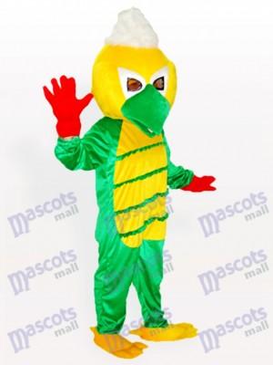 Pájaro rizado con cabeza amarilla Disfraz de mascota Animal