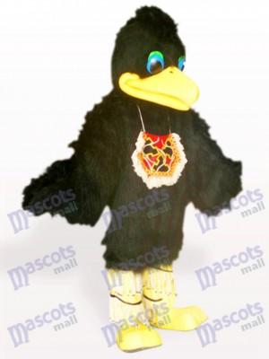 Pájaro de pelo negro con ojos azules Disfraz de mascota Animal