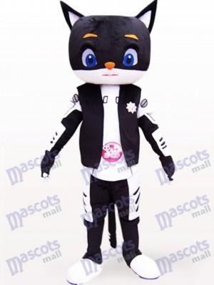 Gato negro de aire fresco Disfraz de mascota Animal