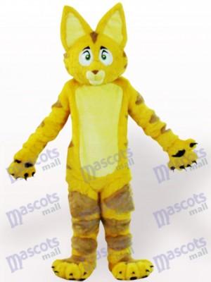 Gato amarillo con orejas grandes Disfraz de mascota Animal