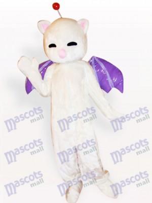 Gato Blanco Nariz Rosada Disfraz de mascota Animal