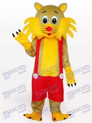 Gato amarillo con nariz roja Disfraz de mascota Animal