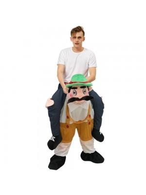 Hombre de cerveza Oktoberfest bávaro Llévame Seguir adelante Disfraz de mascota para adulto/niño