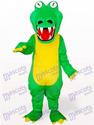 Cocodrilo verde con boca grande Disfraz de mascota Animal