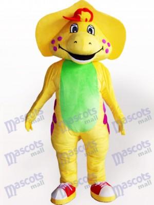 Adulto Dinosaurio Amarillo Disfraz de mascota Animal
