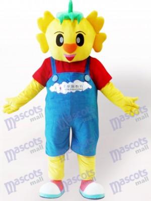 Muñeca de dinosaurio amarillo Disfraz de mascota Animal