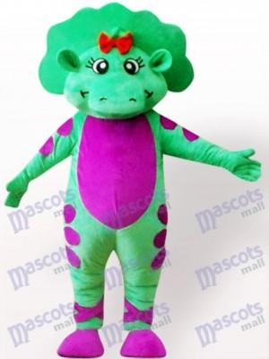 Dinosaurio verde con vientre morado Adulto Disfraz de mascota Animal