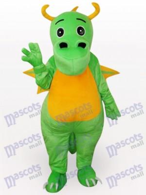 Dinosaurio verde con ojos negros Disfraz de mascota Animal