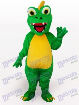 Dinosaurio verde con ojos grandes Disfraz de mascota Animal