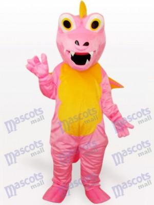 Vientre Amarillo Dinosaurio Rosa Disfraz de mascota Animal