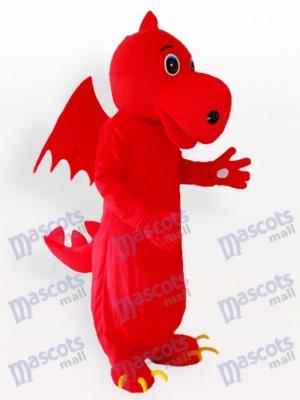 Estegosaurio rojo adulto Disfraz de mascota Animal