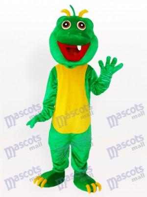 Dinosaurio verde de un diente Disfraz de mascota Animal