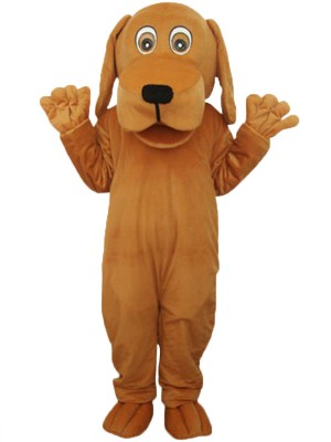 Perro marrón con boca grande Disfraz de mascota Animal