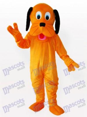 Perro naranja con orejas negras Disfraz de mascota