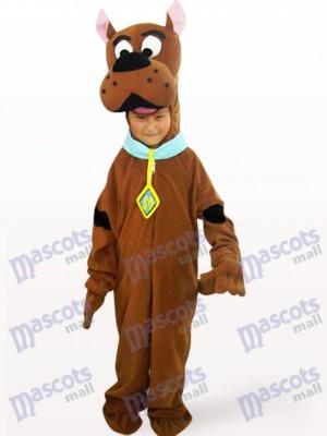Niños Cara Abierta Perro Marrón Disfraz de mascota Animal