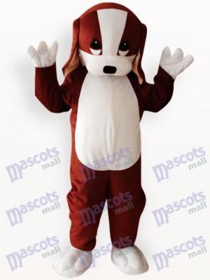 Animal perro marrón y blanco Disfraz de mascota