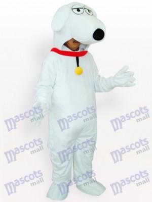 Perro blanco con collares rojos Disfraz de mascota Animal