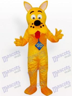 Perro amarillo con nariz negra Disfraz de mascota Animal