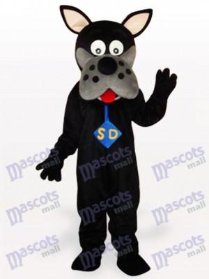 Perro negro cómico adulto Disfraz de mascota