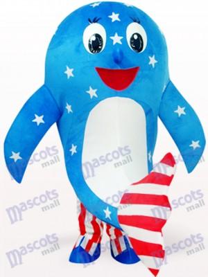 Océano azul delfín americano Disfraz de mascota