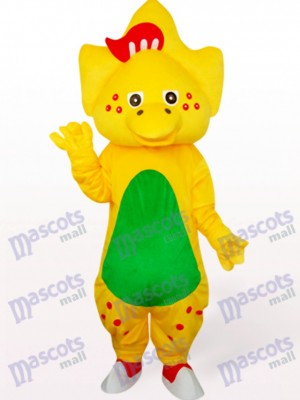 Star Dragón en amarillo Disfraz de mascota