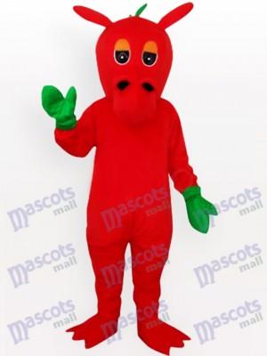 Continuar rojo con mitones verdes Disfraz de mascota
