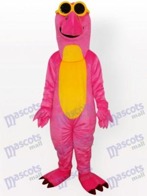 Continuar rosa con vientre amarillo Disfraz de mascota