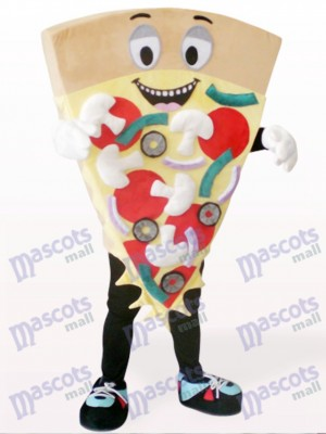 Comida De Pizza De Queso Moreno Disfraz de mascota