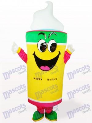 Comida de helado amarillo Disfraz de mascota