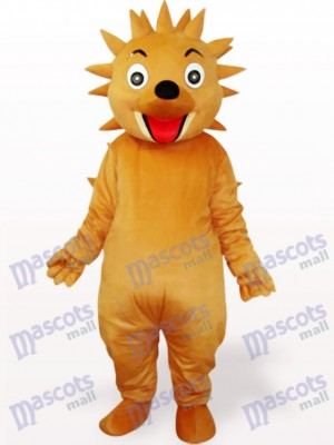 Erizo amarillo pardusco adulto Disfraz de mascota