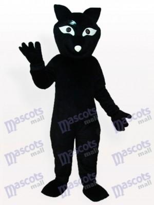 Zorro negro adulto Disfraz de mascota