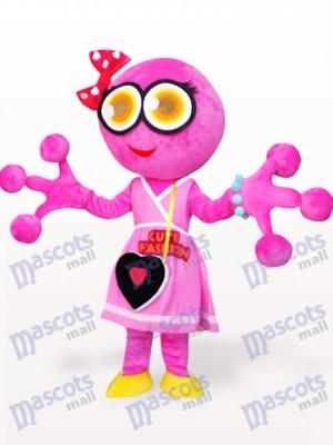Rana de cabeza grande rosa Disfraz de mascota
